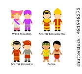 indonesian boys and girls in... | Shutterstock .eps vector #481948273