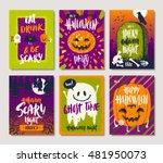vector illustration. set of... | Shutterstock .eps vector #481950073