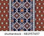 geometric ethnic oriental... | Shutterstock .eps vector #481957657