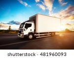 commercial cargo delivery truck ... | Shutterstock . vector #481960093