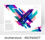 geometric background. template... | Shutterstock .eps vector #481960657