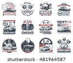 set of car racing colored... | Shutterstock .eps vector #481964587