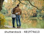 romantic couple relaxing in... | Shutterstock . vector #481974613