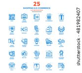 set of modern flat line icon... | Shutterstock .eps vector #481982407