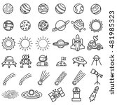 space icons vector. | Shutterstock .eps vector #481985323