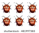 cartoon vector red disgusting... | Shutterstock .eps vector #481997383
