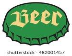 beer bottle cap | Shutterstock .eps vector #482001457