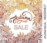 golden autumn leaves  autumn... | Shutterstock .eps vector #482004817