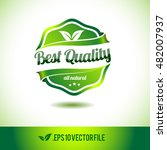 best quality badge label seal... | Shutterstock .eps vector #482007937