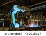 robot welding test run program... | Shutterstock . vector #482015317