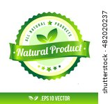 natural product badge label... | Shutterstock .eps vector #482020237