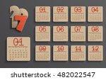 modern calendar 2017 in a paper ... | Shutterstock .eps vector #482022547