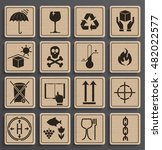 set of packaging symbols in a... | Shutterstock .eps vector #482022577