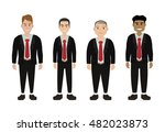 group of young businessman in... | Shutterstock .eps vector #482023873