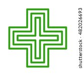 european green cross pharmacy... | Shutterstock .eps vector #482026693