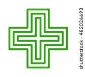 european green cross pharmacy... | Shutterstock .eps vector #482026693