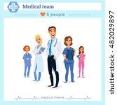 team of doctors  nurses and... | Shutterstock .eps vector #482029897