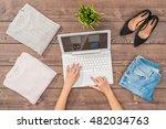 female online shopping concept | Shutterstock . vector #482034763