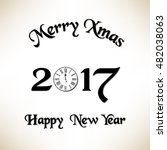 merry christmas and new year... | Shutterstock .eps vector #482038063