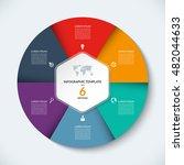 vector infographic circle... | Shutterstock .eps vector #482044633