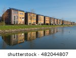 row of newly build modern... | Shutterstock . vector #482044807