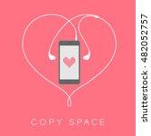 smartphone black color flat... | Shutterstock .eps vector #482052757