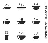 soup vector icons. simple... | Shutterstock .eps vector #482055187