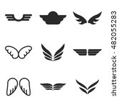 wing vector icons. simple...