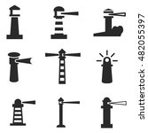 lighthouse vector icons. simple ...