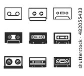 audiocassette vector icons....
