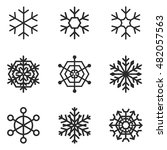 snowflake vector icons. simple...
