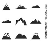 mountain vector icons. simple...