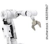 3d rendering robotic arm on... | Shutterstock . vector #482059867