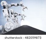 3d rendering white robotic arms ... | Shutterstock . vector #482059873