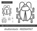 bug fixing vector line icon... | Shutterstock .eps vector #482064967