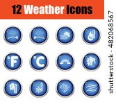 set of weather icons. flat...