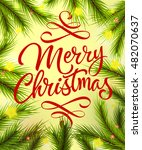 merry christmas lettering with... | Shutterstock .eps vector #482070637