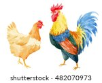vector watercolor  illustration ... | Shutterstock .eps vector #482070973