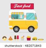 street food truck vector... | Shutterstock .eps vector #482071843