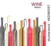 abstract watercolor wine... | Shutterstock .eps vector #482080597
