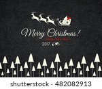 christmas and new year. vector... | Shutterstock .eps vector #482082913
