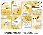 hand drawn artistic background... | Shutterstock .eps vector #482083267