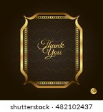 thank you golden frame. vintage ... | Shutterstock .eps vector #482102437