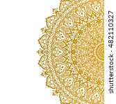vector beautiful gold mandala....   Shutterstock .eps vector #482110327