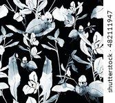 imprints meadow flowers and... | Shutterstock . vector #482111947