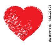 vector grunge heart  valentine... | Shutterstock .eps vector #482123623