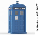 Police Box On A White...