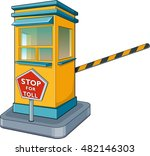 Isolated Toll Booth