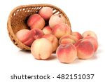 Peaches In A Wicker Basket...