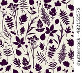 seamless pattern with plants.... | Shutterstock .eps vector #482152573